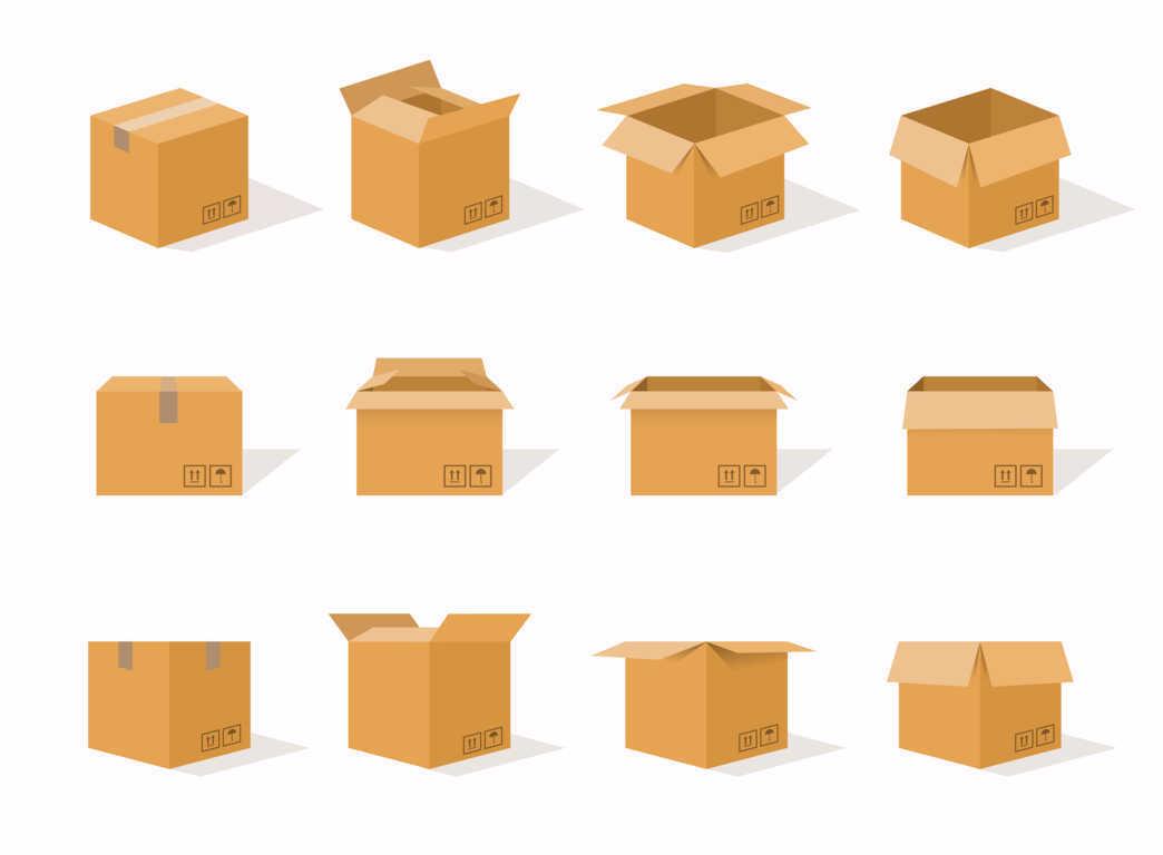 Cómo elegir tus cajas de cartón